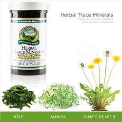 Trazas de Minerales Herbales HTM (100 cap)